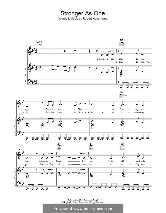 Stronger as One: Für Stimme und Klavier (oder Gitarre) by Robert Hartshorne