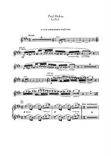 La Péri: Flutes and flute piccolo part by Paul Dukas