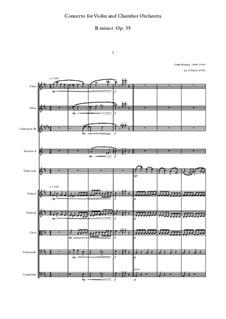 Konzert für Violine (oder Bratsche, oder Cello) und Orchester Nr.2 in h-Moll, Op.35: Version for violin and chamber orchestra by Oskar Rieding