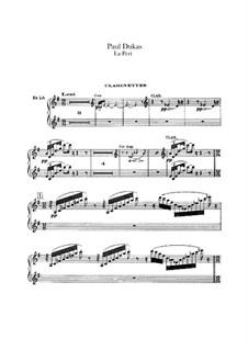 La Péri: Klarinettenstimme by Paul Dukas
