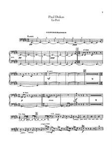 La Péri: Kontrabass-Stimme by Paul Dukas