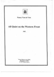 All Quiet on the Western Front: Vollpartitur by Nancy Van de Vate