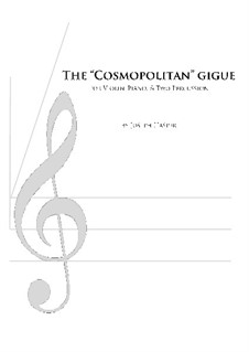 Cosmopolitan Gigue (mixed quartet): Cosmopolitan Gigue (mixed quartet) by Joseph Hasper