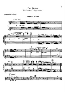 Der Zauberlehrling: Flöten- und Piccoloflötenstimmen by Paul Dukas