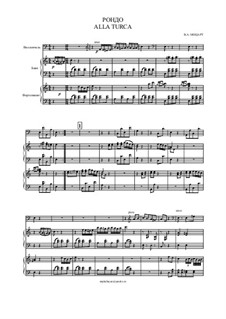 Türkisches Rondo: For cello, bayan (or accordion) and piano by Wolfgang Amadeus Mozart