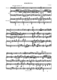 Humoresken, B.187 Op.101: No.7, for cello, bayan (or accordion) and piano by Antonín Dvořák