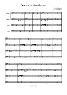 Österreische Nationalhymne, Hob.XXVIa/43: Für Streichquartett by Joseph Haydn