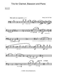 Trio for Clarinet, Bassoon and Piano: Stimmen by Nancy Van de Vate