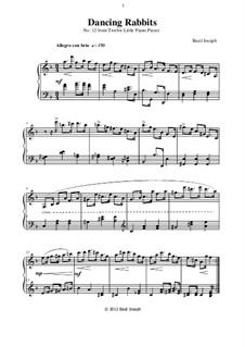 Twelve Little Piano Pieces: No.12 Dancing Rabbits by Basil Joseph