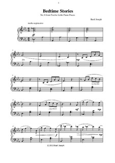 Twelve Little Piano Pieces: No.8 Bedtime Stories by Basil Joseph