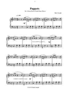 Twelve Little Piano Pieces: No.6 Puppets by Basil Joseph