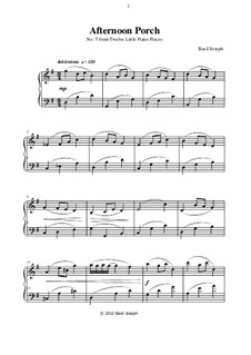 Twelve Little Piano Pieces: No.5 Afternoon Porch by Basil Joseph