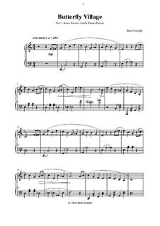 Twelve Little Piano Pieces: No.1 Butterfly Village by Basil Joseph