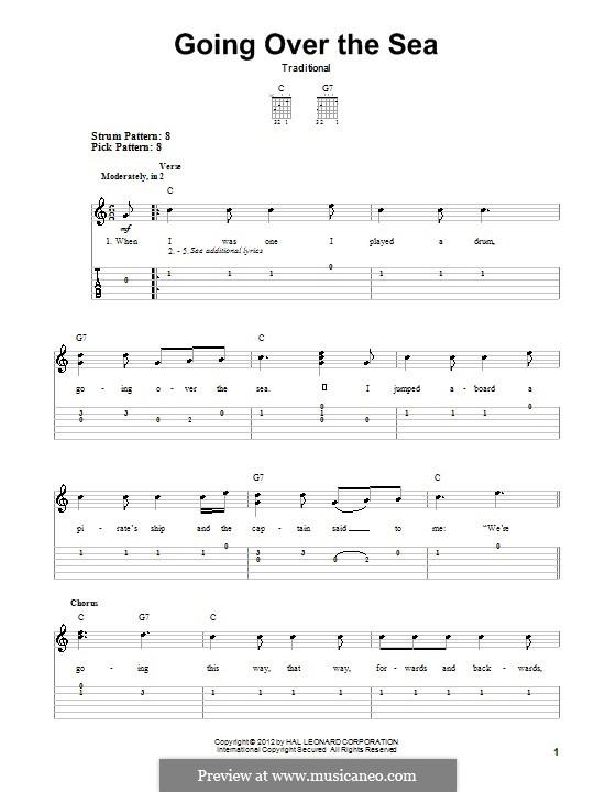 Going Over the Sea: Für Gitarre mit Tabulatur by folklore