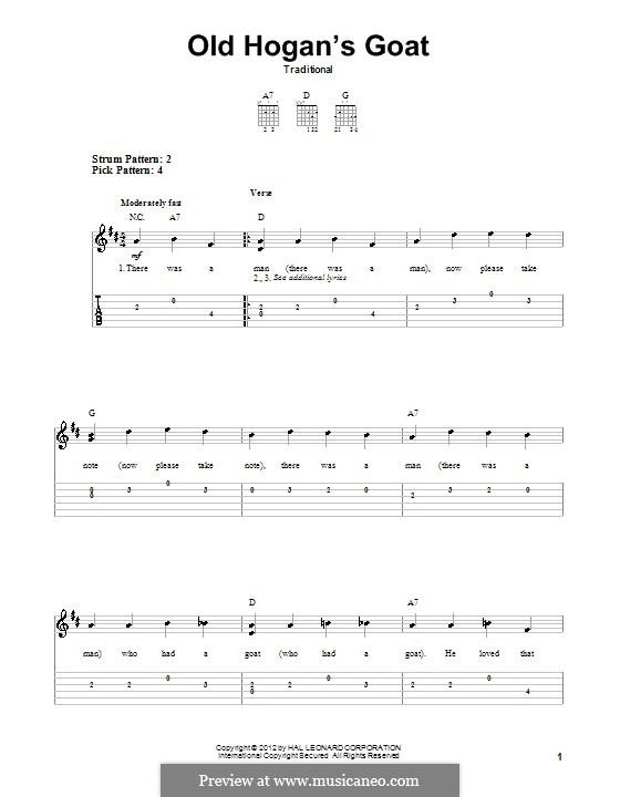 Old Hogan's Goat: Für Gitarre mit Tabulatur by folklore