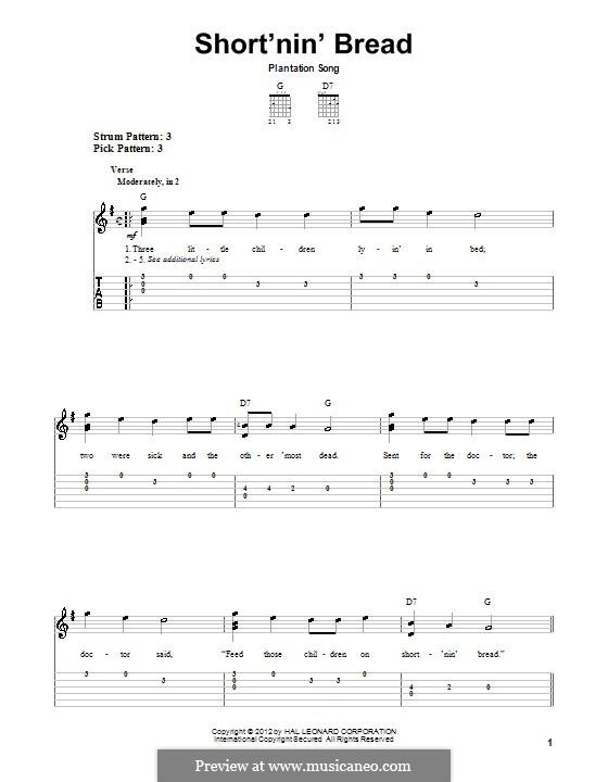 Short'nin' Bread: Für Gitarre by folklore