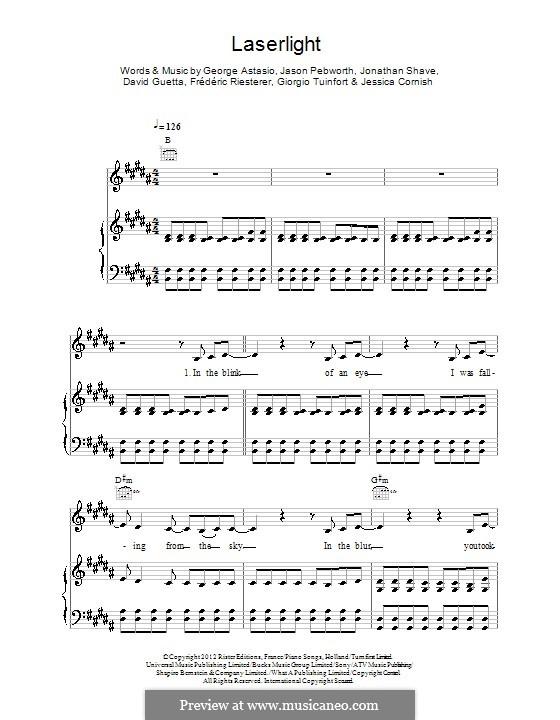 Laserlight (Jessie J): Für Stimme und Klavier (oder Gitarre) by David Guetta, George Astasio, Giorgio Tuinfort, Jason Pebworth, Jessica Cornish, Jonathan Shave
