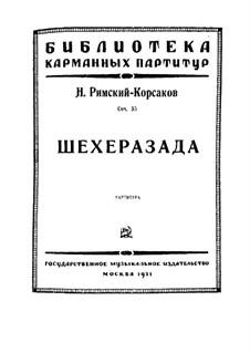 Scheherazade, Op.35: Vollpartitur by Nikolai Rimsky-Korsakov