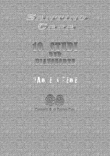 Book No.1 of 10 studies of musical scores for piano with mp3: Book No.1 of 10 studies of musical scores for piano with mp3 by Santino Cara