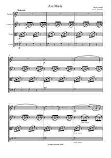 Ave Maria: Für Streichquartett – Stimmen by Johann Sebastian Bach, Charles Gounod