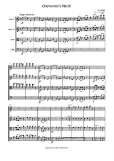 March of Chernomor: Für Streichquartett by Michail Glinka