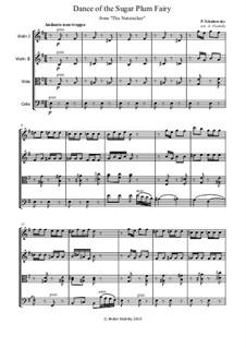 Nr.3 Tanz der Zuckerfee: Für Streichquartett by Pjotr Tschaikowski