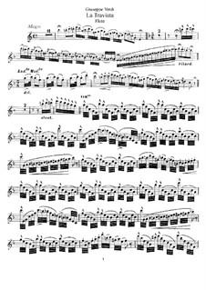 Fantasie über Themen aus 'La Traviata' von Verdi, Op.248: Für Flöte und Klavier - Flötenstimme by Emmanuele Krakamp