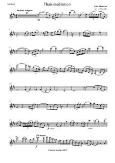 Meditation: Für Streichquartett by Jules Massenet