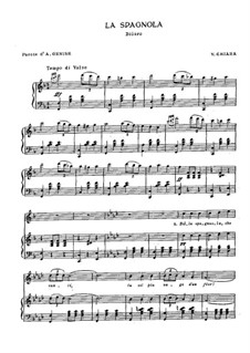 La spagnola: Für Stimme und Klavier by Vincenzo di Chiara