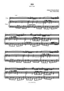 Arie. Bearbeitung für zwei Interpreten: Querflöte und Klavier by Johann Sebastian Bach