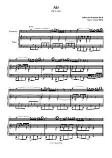Arie. Bearbeitung für zwei Interpreten: Posaune und Klavier by Johann Sebastian Bach