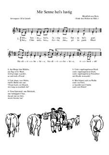 Mir Senne hei's lustig: Mir Senne hei's lustig by folklore