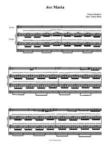Ave Maria, für Zwei Instrumente, D.839 Op.52 No.6: Für Geige und Orgel by Franz Schubert