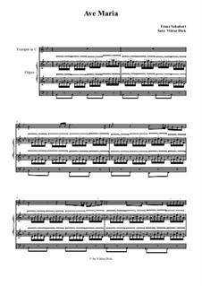 Ave Maria, für Zwei Instrumente, D.839 Op.52 No.6: Für Trompete in C und Orgel by Franz Schubert