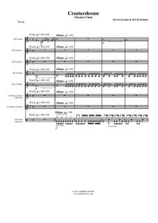 Creaturehouse: Clarinet choir, AMSM65 by Steven Grames, Eric Kartchner