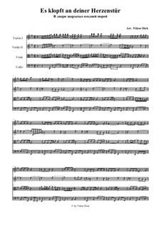 Es klopft an deiner Herzenstür: Für Streichquartett by folklore