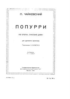 Fragmente: Potpourri für Blasorchester by Pjotr Tschaikowski