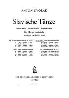Heft I: Für Klavier by Antonín Dvořák