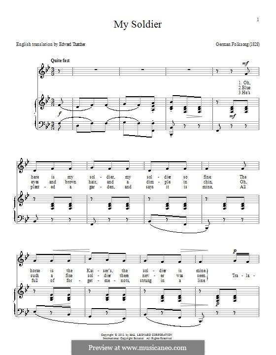My Soldier: Für Stimme und Klavier by folklore