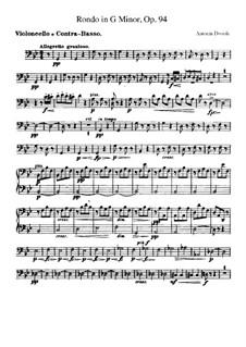 Rondo in g-Moll, B.181 Op.94: Cello- und Kontrabass-Stimme by Antonín Dvořák