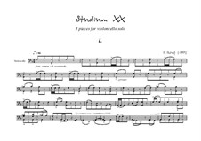 Studium XX for cello solo: Studium XX for cello solo by Peter Petrof