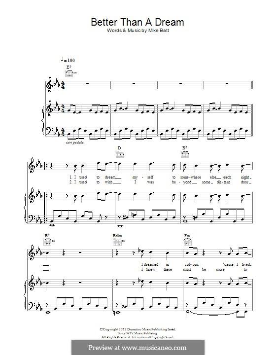 Better than a Dream (Katie Melua): Für Stimme und Klavier (oder Gitarre) by Mike Batt