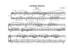 Five Simple Pieces for Piano: Stück Nr.1, MVWV 676 by Maurice Verheul