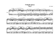 Five Simple Pieces for Piano: Stück Nr.2, MVWV 677 by Maurice Verheul