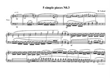 Five Simple Pieces for Piano: Stück Nr.3, MVWV 678 by Maurice Verheul