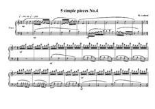 Five Simple Pieces for Piano: Stück Nr.4, MVWV 679 by Maurice Verheul