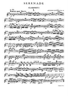 Serenade in d-Moll, B.77 Op.44: Klarinettenstimme I by Antonín Dvořák