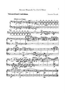 Rhapsodie Nr.2 in g-Moll: Cellos- und Kontrabässenstimmen by Antonín Dvořák