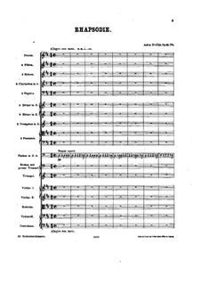 Rhapsodie Nr.1 in D-Dur: Vollpartitur by Antonín Dvořák