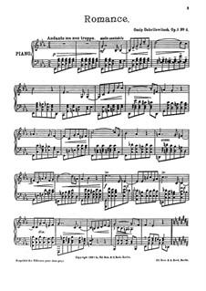 Fünf Klavierstucke, Op.1: No.4 Romance by Ossip Gabrilowitsch